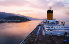 Navigation (petrk747) Tags: voyage cruise sunset sea costa sun travelling port sunrise coast ship greece volos costapacifica thebestofday gününeniyisi