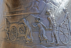 Nellie Pucell Unthank, SUU Campus, 5 April 2015 (3) (Bob Palin) Tags: 15fav usa bronze canon utah mormon pioneer handcart ironcounty cedarcity club100 100vistas instantfave canonef24105mmf4lisusm jerryanderson nelliepucellunthank suucampus