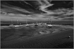 Wells-next-the-Sea at low tide. (Smudge 9000) Tags: england bw landscape mono seaside unitedkingdom norfolk wellsnextthesea 2015 silverefexpro2