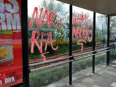Tags (oerendhard1) Tags: street urban art station graffiti rotterdam tag tags vandalism noord nar rfa wtm