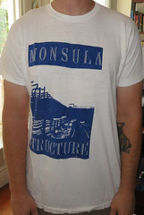 #1385A Monsula - Structure (Minor Thread) Tags: records shirt vintage oakland berkeley diy concert punk tour lookout structure eastbay merch minorthread 924 brouhaha pinheadgunpowder gilmanst monsula tshirtwars razorsneverdie