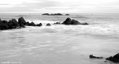 Sunnyside Bay Seascape (James Fox (Pitcaple)) Tags: sea blackandwhite coast scotland rocks waves aberdeenshire moray landscapeuk