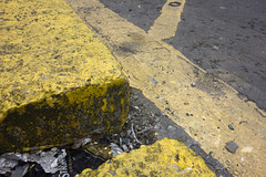 Yellow (Spannarama) Tags: uk london yellow reflections floor ground yellowline lowviewpoint