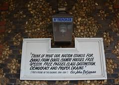 Wymondham Railway Station Gas Lamp and Sign (Stuart Axe) Tags: wymondham wymondhamrailwaystation england uk unitedkingdom gb norfolk greatbritain lner lamp light gaslamp sirjohnbetjeman poet poem ditty sign