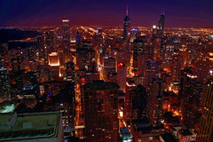 Chicago (jed52400) Tags: chicago illinois city urban building skyscrapers citylights ambientlight skyline lakemichigan streets