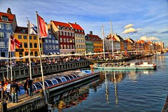 NyHavn, Copenhagen! (kekaneshrikant) Tags: nyhavn waterfront canal wooden cruises colorful colors hdr red