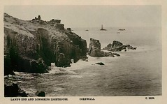Longships Lighthouse (mgjefferies) Tags: england cornwall penzance lonships lighthouse 1911 postcard