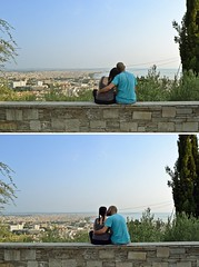 **Together,we have it all. (Despina Titoni) Tags: diptych portrait couple together alone us love romantic color city view skyline blue sky trees building hug cuddle new project summer 2016 nikond3100 thessaloniki female photographer greece afternoon sunlight sun natural light urban landscape