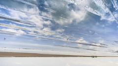 Land of clouds (Vinith GR) Tags: travel blue sky india nature water clouds landscape ngc wideangle bluesky sands inverted marshland rameshwaram southindia waterscape dhanushkodi morningclouds barrenland flickrtravelaward sony1018mm sonya6000 vinithgrphotography