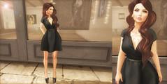 little black dress (honey.aselya) Tags: black secondlife brunette blackdress