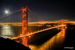 Golden Gate Bridge (pandt) Tags: golden gate bridge san francisco california hdr long exposure night moon red water canon eos 7d flick bay outdoor architecture ocean marin headlands
