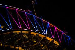Sydney, Australia (tenich) Tags: bridge color colour nightshot flag sydney vivid australia nighttime sydneyharbour sydneyharbourbridge australianflag vividsydney vividsydney2016