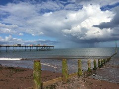 Teignmouth beach (Katie Fuller @bogbumper) Tags: sea beach pier sand groyne teignmouth
