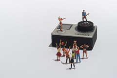 Guitar Hero (abnormally average) Tags: gopro guitar guitarist hero preiser miniature ho hoscale concert fun littlepeople singer crowd poot pootar abnormallyaverage souppickle