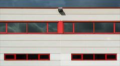 The red factory II (jefvandenhoute) Tags: light red lines belgium shapes belgi mechelen businessdistrict photoshopcs6
