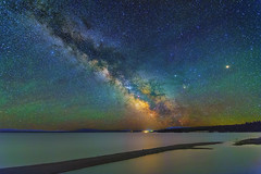 Galactic Sandbar (skypointer2000) Tags: longexposure lake night canon landscape nightscape astro astrophotography astronomy yellowstone milkyway milchstrasse hutech canoneos6d astromodified tamronsp1530mmf28