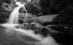 Swiftwater (SnapSnare) Tags: bw new hampshire falling waters trail swiftwater falls nature franconia