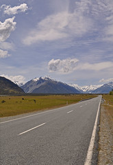 New Zealand - Mt Cook (Harshil.Shah) Tags: new zealand mount cook mt aotearoa aoraki southern alps national park mtcook canterbury south island newzealand nz landscape mountain road highway