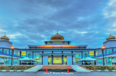 Where Muslims Go To Pray (Azim Taufik) Tags: triggertrap longexposure lehdr hdr hdrextremes temerloh pahang malaysia mosque dusk flickraward rm canon eos architecture skyline slowshutterspeed wideangle building sky photomatix