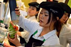 Tsujiri Treat (Pedestrian Photographer) Tags: macha green tea ice cream tsujiri since 1860 uniform japanese girl women working counter making dessert toronto ribbet canada ontario july 2016 summer