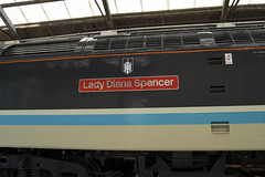 Lady Diana Spencer (DM47744) Tags: crewe gresty bridge drs depot direct rail services open day 2016 train trains locomotive loco railway railways railroad nikon d3100 rails traction transport track travel shed nameplate name lady diana spencer haymarket castle logo