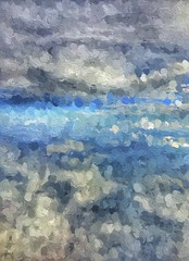 lost in the clouds (Pejasar) Tags: clouds airplanewindowshot cloudformations art blue gray color flying above height travel paint abstract impression
