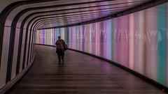 Rainbow Tunnnel (mike.pearce0764) Tags: st pancras kings cross station london underground rainbow colours