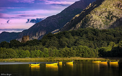 Evening Light (Paul Sivyer) Tags: llanberis llynpadarn cribgoch dolbadarncastle rowingboats wildwalescom paulsivyer