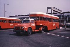 03071 - 900 ALR - Heathrow Airport - 11 Apr 1971 (Busman Extraordinaire) Tags: bedford j type bea heathrow 1971