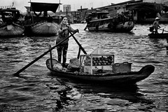 Banh Mi delivery (Joerg Rockenberger) Tags: boat cairangfloatingmarket cantho floatingmarket mekongdelta people river vietnam