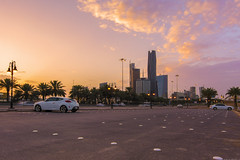 A Lovely March Sunset Over KAFD Mar-12-16 (Bader Alotaby) Tags: nikon d7100 riyadh skyscraper skyline cityscape nightscape ruh photography ksa gcc art architecture leed kafd sunset blue hour amazing 18200 1116 sigma samyang 8mm tokina supertall megatall cma hok kkia dxb dubai uae doh doha qatar bahrain manamah burj khalifah downtown city center modern rafal kempinski hotel flamingo sculpture chicago illinois usa travel summer loop central cta ord ny jfk kfnl kapsarc