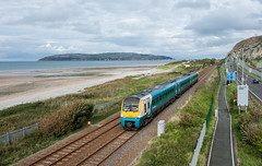Arriva Class 175 at Penmaenmawr (Jez B) Tags: north wales conway conwy train railway arriva trains passenger coradia penmaenmawr coast beach line coastline sky road a55 diesel multiple unit dmu class 175
