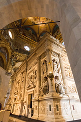 Loreto,Italy - August 12, 2016: Interior of the Shrine of Loreto, Santuario della Madonna, detail of the Holy House of Our Lady (andrea_luciani) Tags: europe ancona architecture basilica beautiful bramante building casa catholic church classic colorful culture editorial fontana god hill holy house illustrative interior italy land landscape loreto madonna marche martini medieval monastery nazareth old religion sanctuary santa shrine sky tower travel virgin
