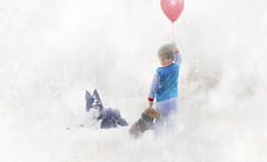 Lost Boy (Cutter55) Tags: boy balloon dog lost snow alone uk england