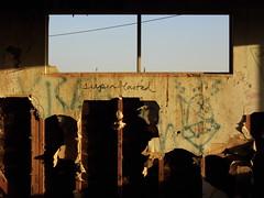 Salton sea 1 (Praxis Transmutation) Tags: saltonsea abandoned dawn graffiti windows decay building sandiego california desert sunlight