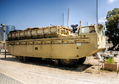 bridging equipment (2) (maskirovka77) Tags: israeldefenseforces idf museum idfmuseum tanks m48 outdoors hdr armoredcar artillery antiaircraft armoredpersonnelcarrier bridgingequipment
