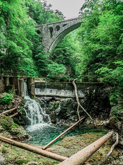 Vintgar Gorge (AndyPalf) Tags: solvenia bled lake vintgar gorge water river green waterfall landscape olympus em1 travel