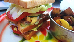 Fat sandwich (Roving I) Tags: sandwiches breakfasts snacks dining cafes friedvegetables cabanon danang vietnam lettuce egg tomato
