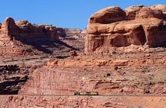 Tiny train in red rock country (Moffat Road) Tags: unionpacific up potashlocal redrocks scenery moab potash localfreight utah formerriogrande ge ac4400cwcte shorttrain freighttrain local train railroad ut