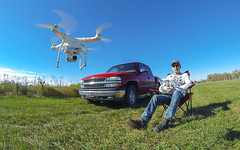 Armchair Tourist (The.Mickster) Tags: chevy wideangle portrait gopro fisheye idaho hereios phantom3professional aerial self drone randy 365 fly chevrolet park dji