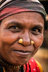 Adivasi woman, Bastar, Chhattisgarh (Simon Spicknell) Tags: portrait nikon streetphotography photojournalism tribal jewellery nosering indigenous reportage travelphotography nosestud documentaryphotography adivasi