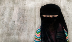 In Veil (zai Qtr) Tags: veil muslim islam daughter aamir qatar iphone manal
