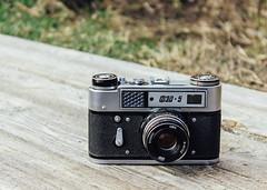 FED 5 (springmausharmon) Tags: camera old green slr film canon photography photo cam rangefinder oldschool retro soviet fed ussr
