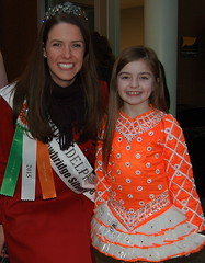 Mairead Comaskey and Maria Sooy of the Emerald Isle Dancers