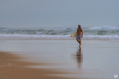 Surfer (BAN - photography) Tags: sea reflection beach sand surf surfer surfboard boardshorts d810