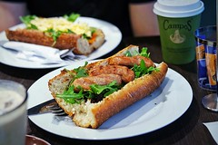 Pork and fennel chipolatas, $7.50 (insatiablemunch) Tags: breakfast sydney breadrolls sydneycbd restaurantreview tastebaguette