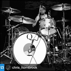 Love the galvanized steel drum sets. They sound huge, look cool and you don't have to care about scratches. @chris_hornbrook on tour with @sensesfailofficial.            ・・・Seattle, WA. 3/18/2015. I love this kit so much. Sounds incredible, especially thi