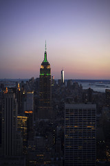 (alphahw) Tags: nyc sunset newyork manhattan midtown empirestate wtc ladyliberty fearofheights