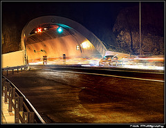 ... - Ghostly lights... (Nick Papakonstantinou) Tags: road nightphotography red white trafficlights car night traffic sony tunnel headlights greece f828 hdr sonydscf828 backlights volos sonyf828 thessaly lightrails hdrphotography longexposurephotography magnesia goritsahill