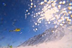 The drop. (clicheforu) Tags: switzerland bokeh off helicopter take wallis adrenaline champex thedrop valdarpette clicheforu couloirsdorny heliskiingskiingfreeridelinesspotwintersnowchopterhelicopterdropskiingsnowboardingbluebirdskysunblueyellow pleasurepassionriderseagle